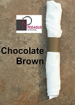 Chocolate Brown restaurant napkin bands to wrap with linen napkins- 20,000 1.5
