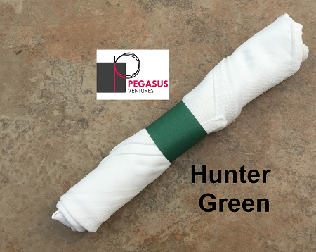 Hunter Green restaurant napkin bands to wrap with linen napkins- 20,000 1.5