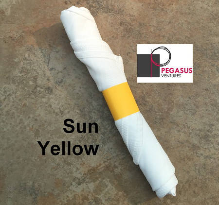 Sun Yellow restaurant napkin bands to wrap with linen napkins- 20,000 1.5
