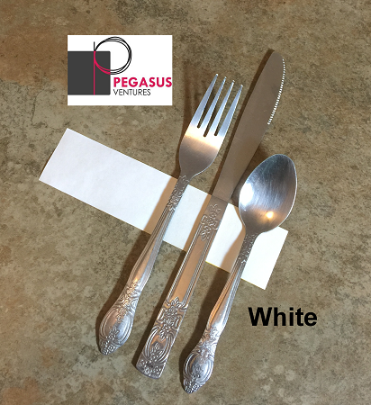 White restaurant napkin bands to wrap with linen napkins- 20,000 1.5