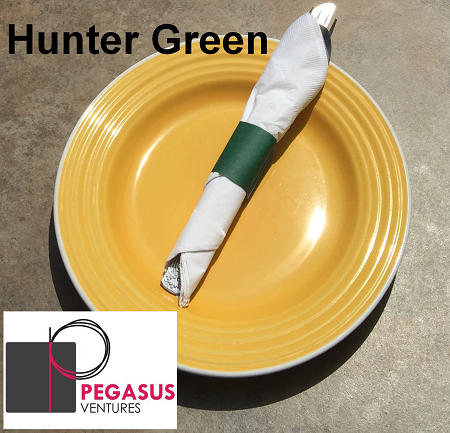 Hunter Green restaurant napkin bands to wrap with paper napkins- 2,000 1.5