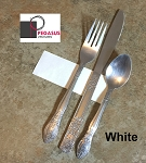 White restaurant napkin bands to wrap with paper napkins- 20,000 1.5