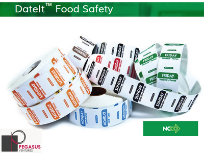 DateIt One Inch Permanent Food Rotation Labels