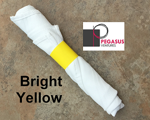 "Bright Yellow restaurant napkin bands to wrap with linen napkins- 20,000 1.5"" x 6"""
