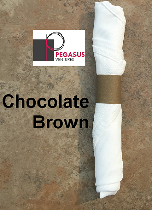 Chocolate Brown restaurant napkin bands to wrap linen napkins 20,000