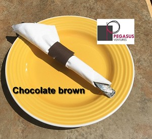 Chocolate Brown  napkin restaurant napkin bands 2,000 for use with paper napkins