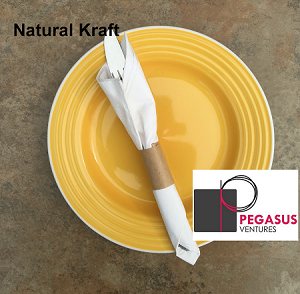 "Natural Kraft recycled paper restaurant napkin bands to wrap with paper napkins- 20,000 1.5"" x 4.25"""
