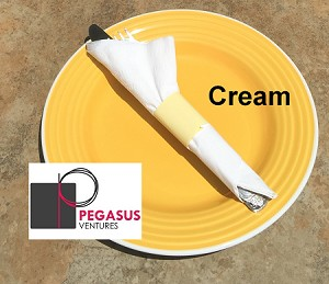 "Cream restaurant napkin bands to wrap with paper napkins- 2,000 1.5"" x 4.25"""